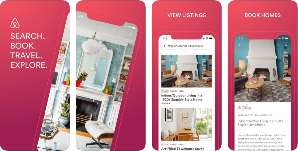 Airbnb App Store Layout