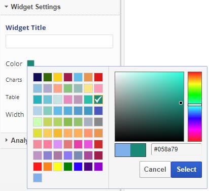 Widgets Color Palette
