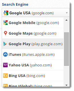 iTunes and Google Play store rank tracking