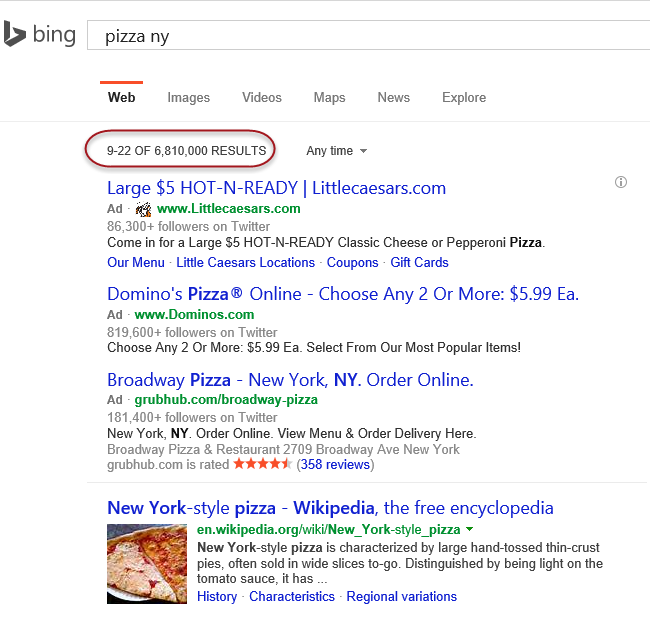 Bing Page 2 results