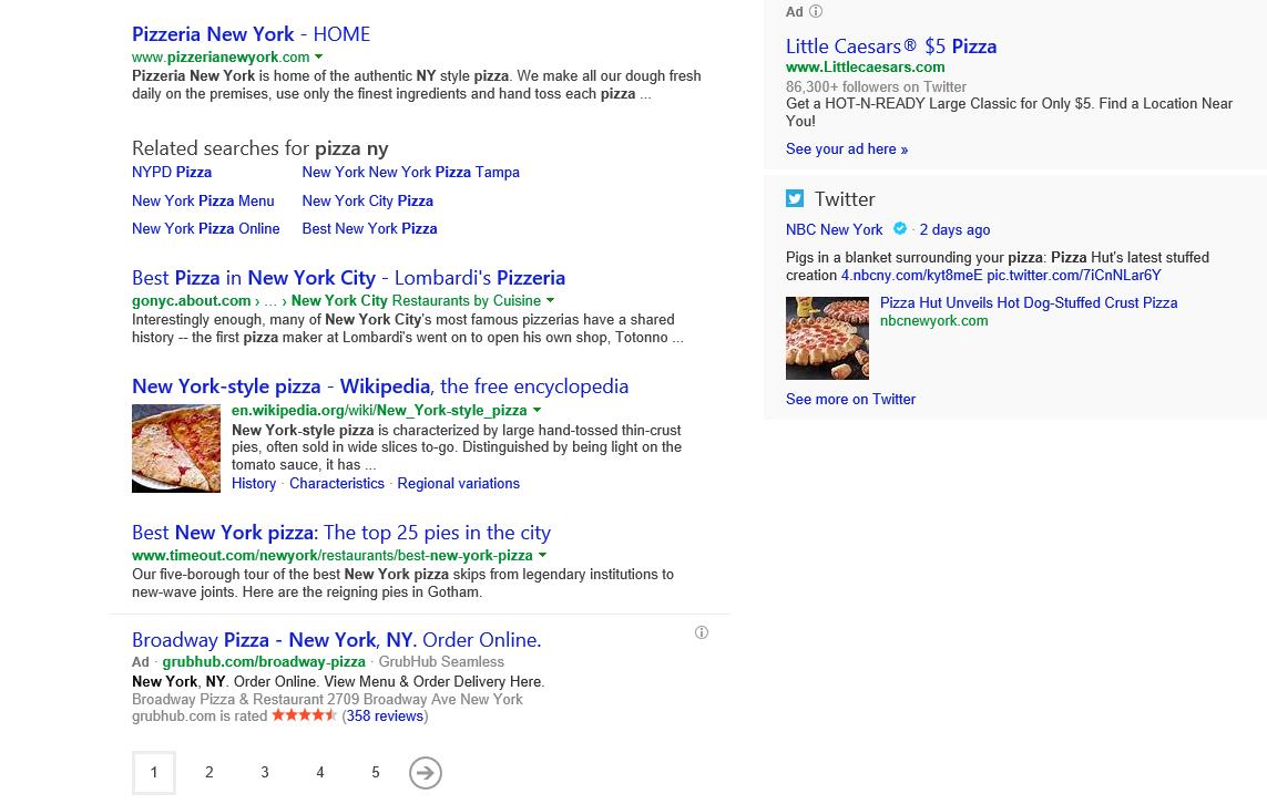 Bing results vary