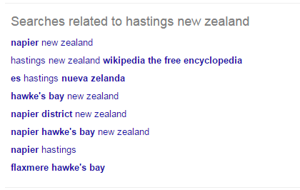 Google Related Search Hastings New Zealand