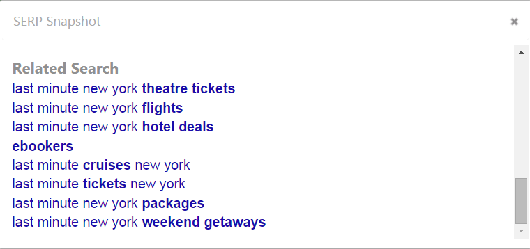 View Google Related Search keywords