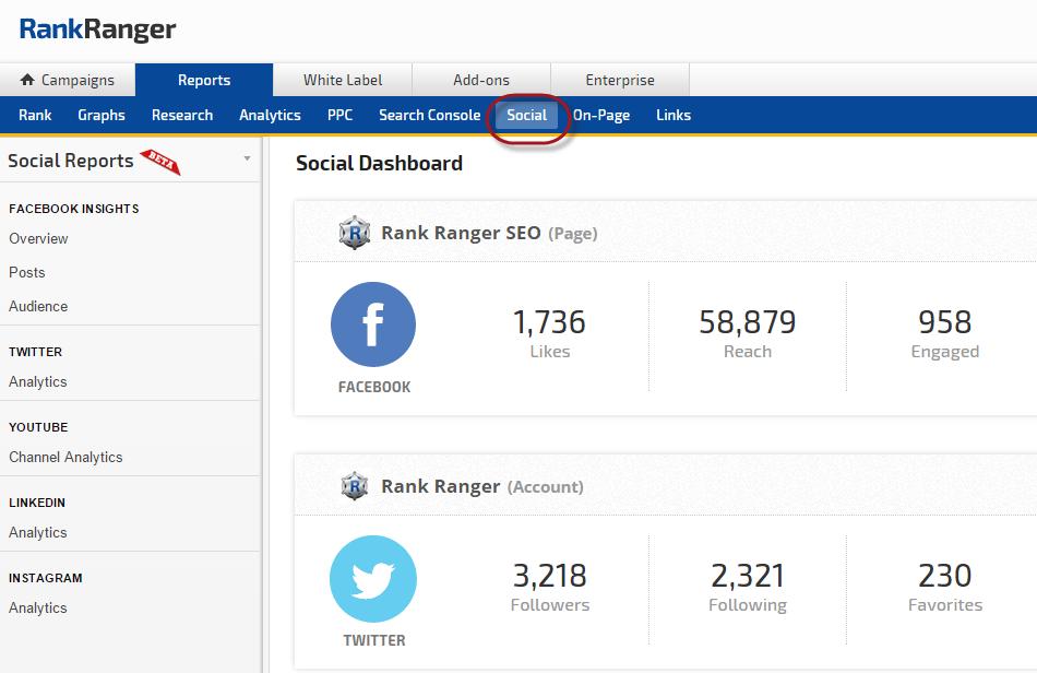 Social Analytics Dashboard