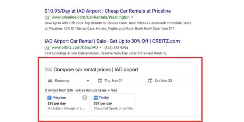 Car Rental Compare Ad