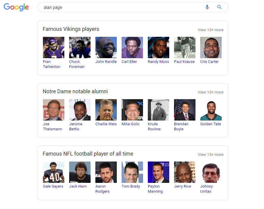 Alan Page Related Search Boxes