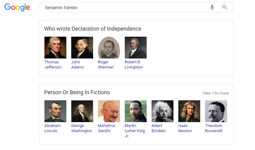 Ben Franklin Related Search Boxes