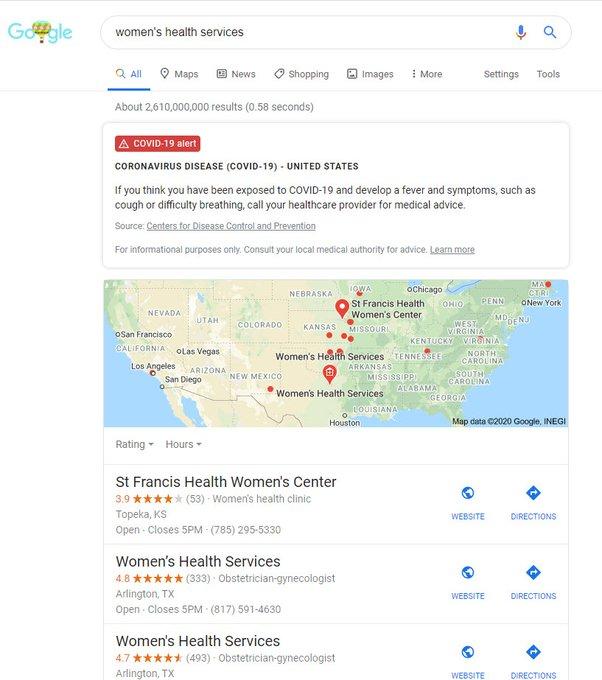 Google COVID-19 Alert