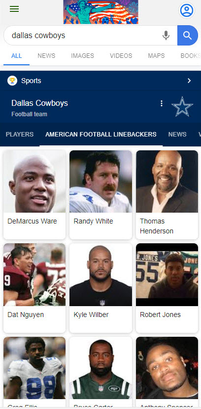 Cowboys Knowledge Panel - New