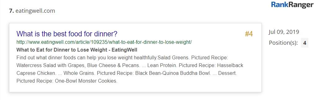 EatingWell.com PAA Result