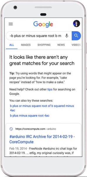 Search Advice SERP Feature