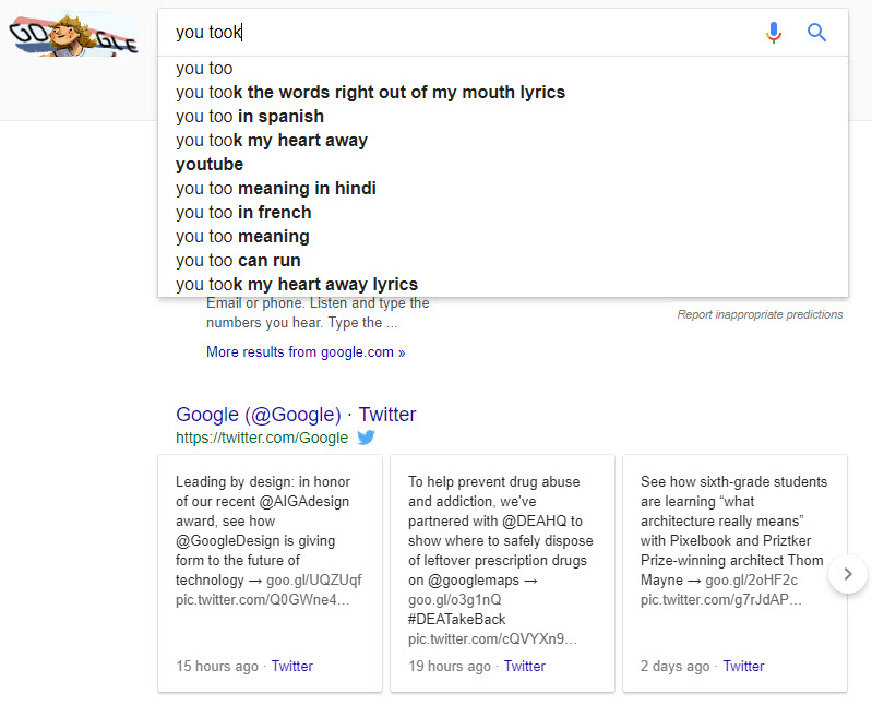 The Autocomplete SERP Feature