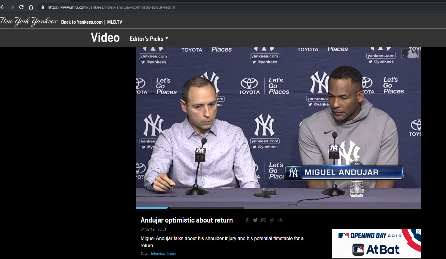 Google Posts Yankees Video