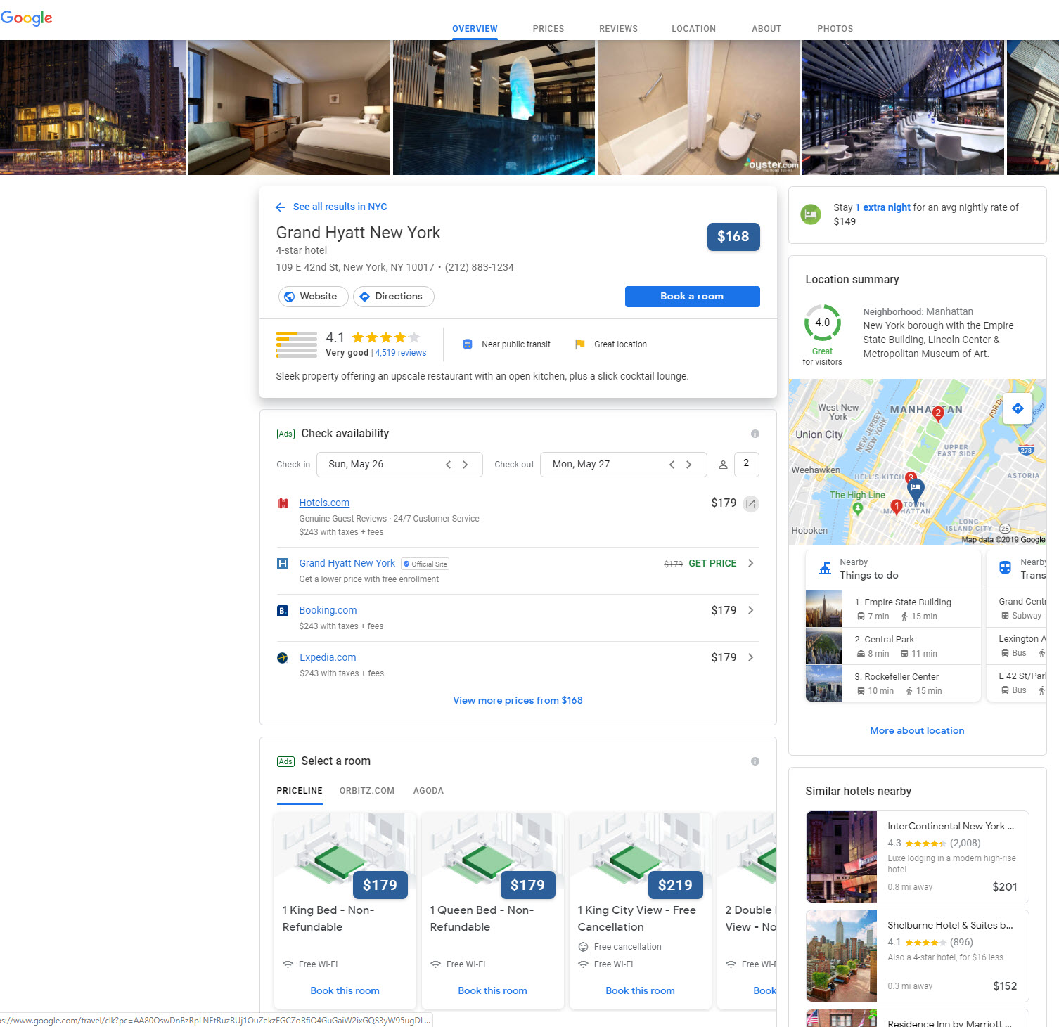 Google Hotel Booking Site