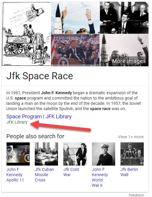 JFK Space Race Explore Panel