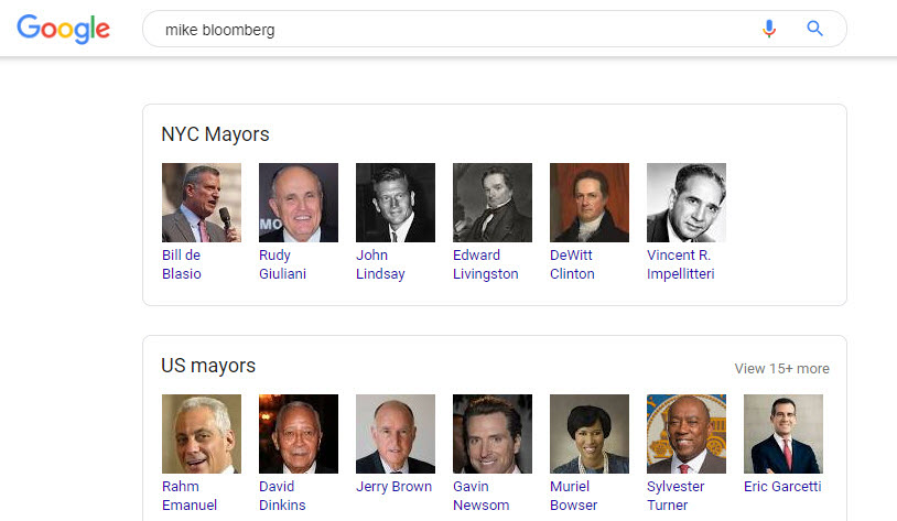Mike Bloomberg Related Search Boxes