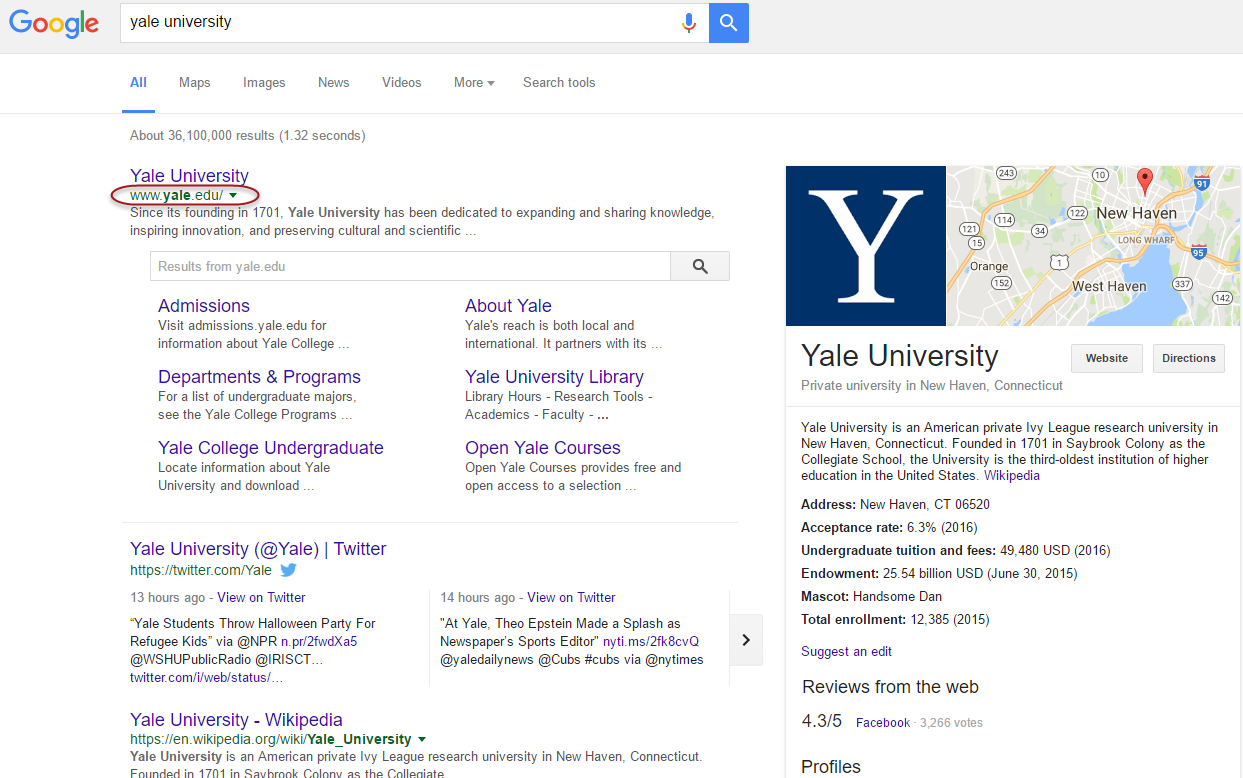 Yale - No Notable Online