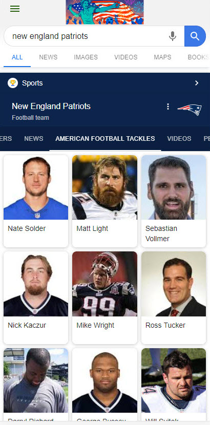 Patriots Knowledge Panel