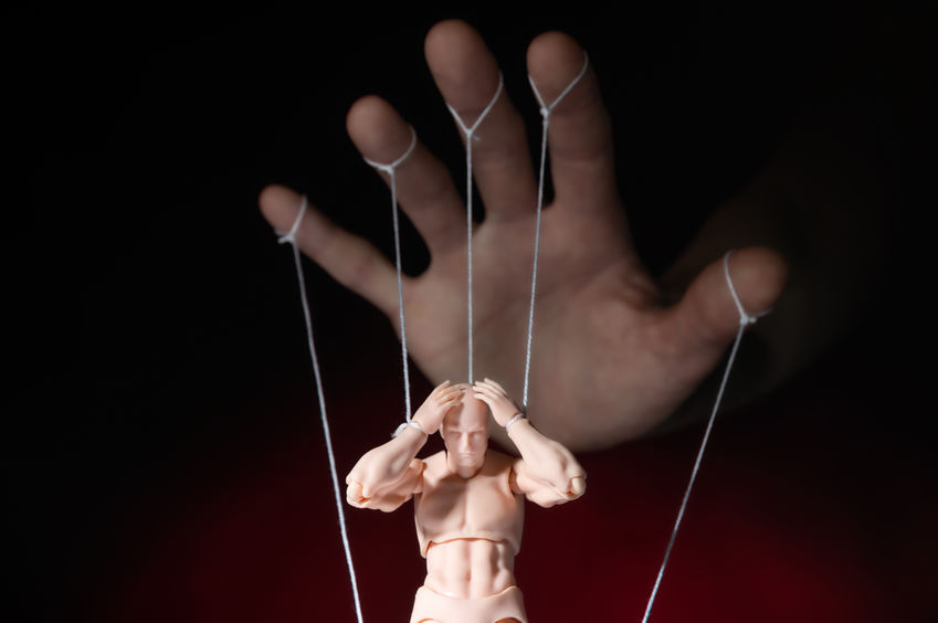 String Puppet Holding Head