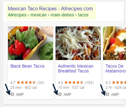 Allrecipes.com Mobile Carousel