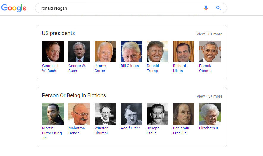 Ronald Reagan Related Search Box