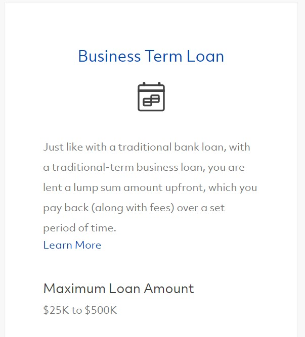 Fundera Term Loan Snippet