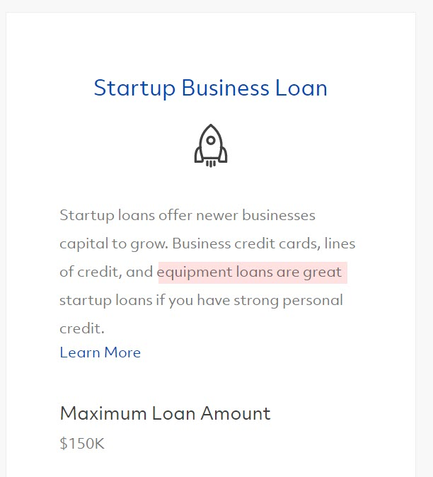 Fundera Startup Loan Snippet