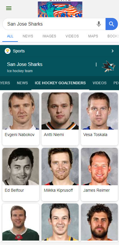 Sharks Knowledge Panel