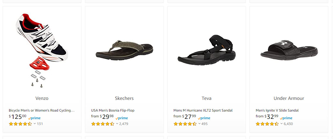 Shoes Sold on Amazon