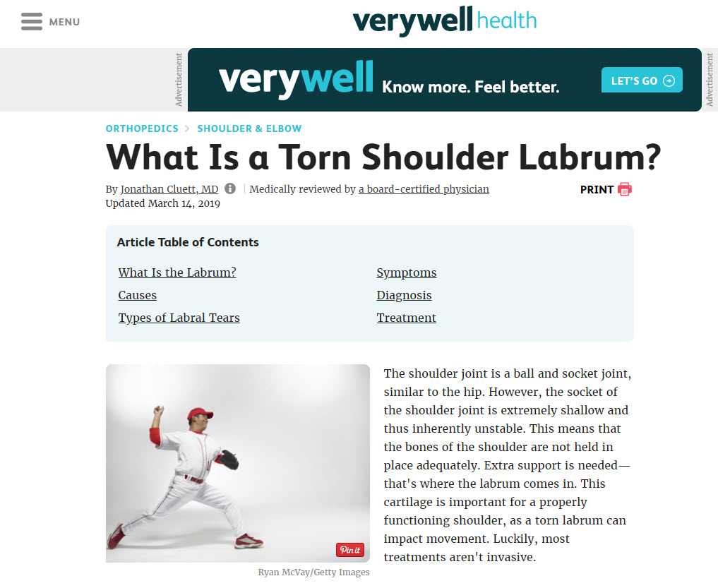 Shoulder Injury Content