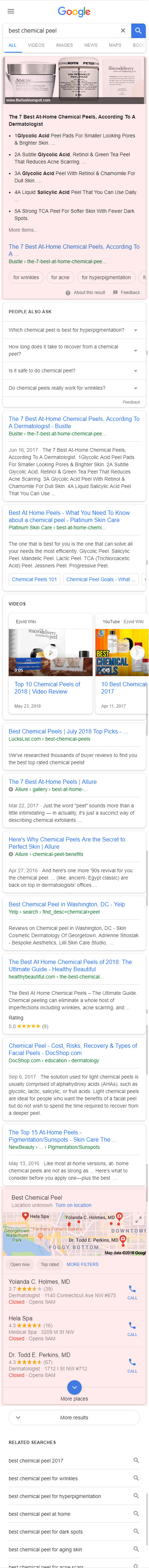Mobile SERP with Featured Snippet & Local Pack