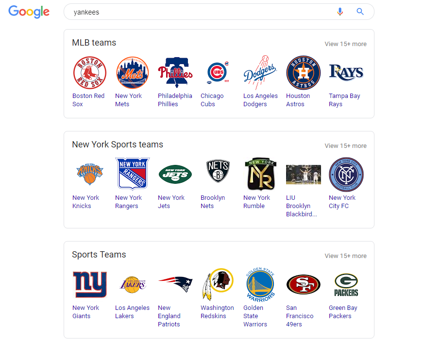Yankees Related Search Boxes