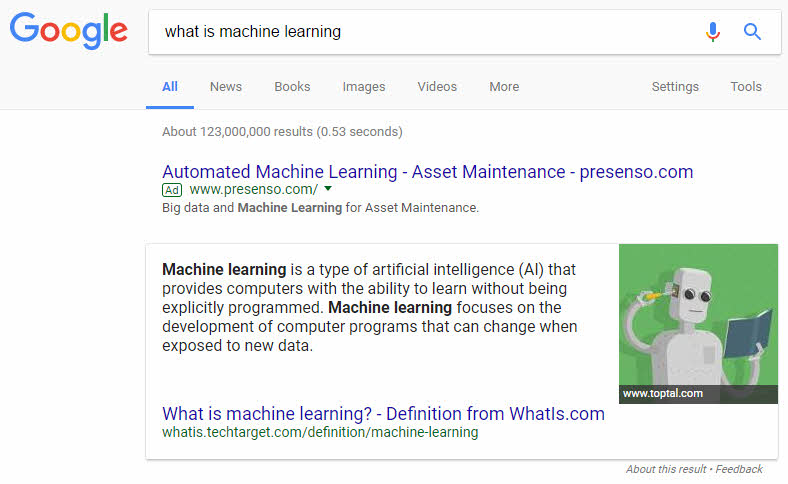 Featured Snippet in paragraph format