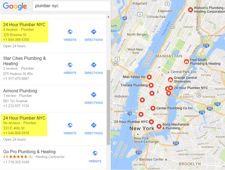 Google Local Finder example