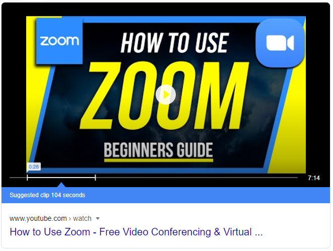 YouTube video explaining how to use Zoom