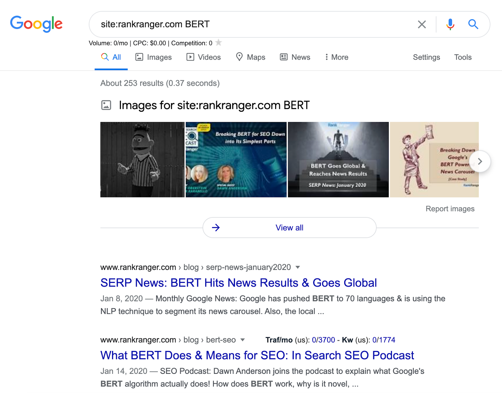 Using Google Advanced Search to see if a topic is covered