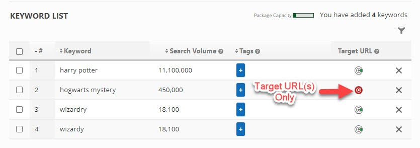 Setup Target URLs