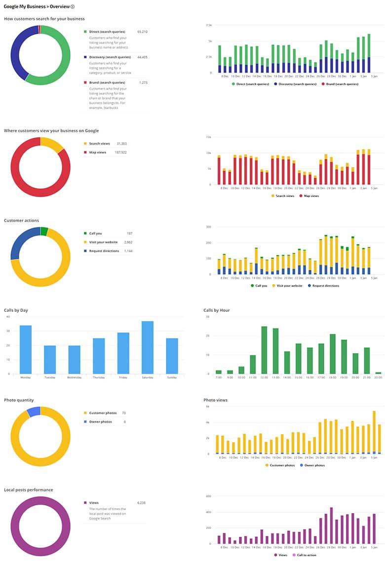 Rank Ranger Google My Business reports