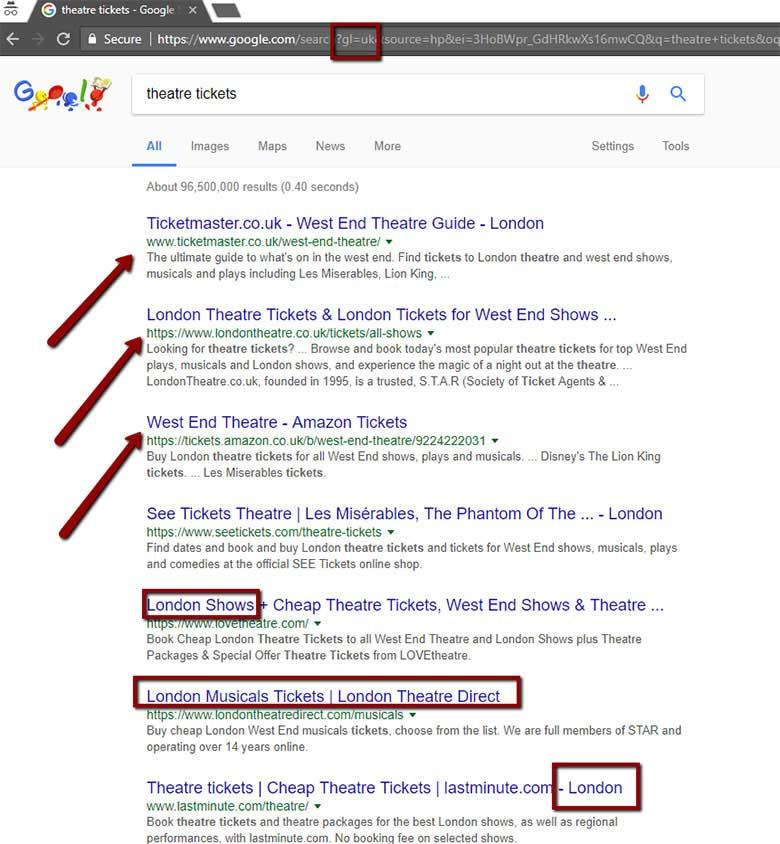 London Search Results