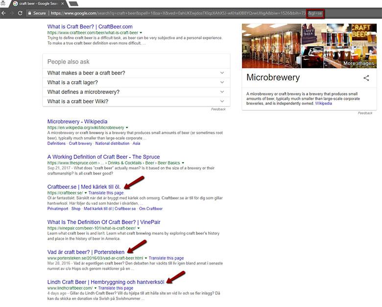 Swedish Search Results