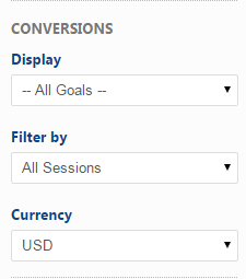 Select the type of Analytics Goals and Conversions
