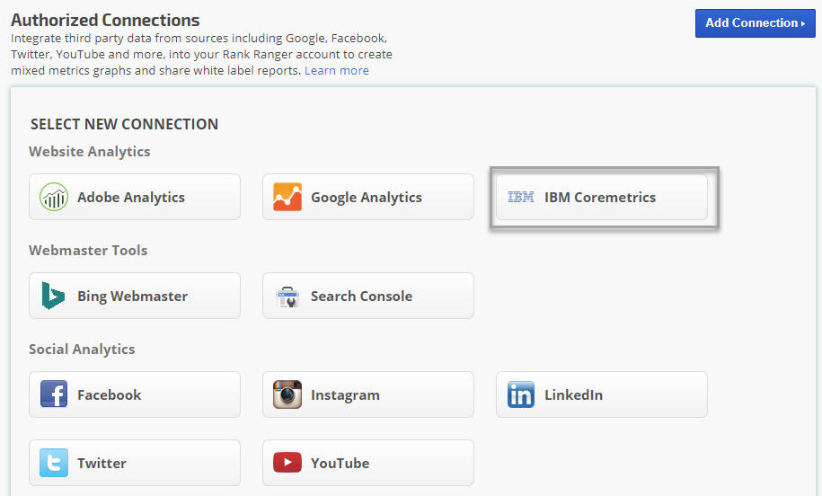 IBM Coremetrics Digital Analytics | Rank Ranger