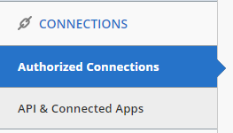 navigate to Authorized Connections