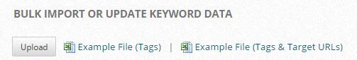 Campaign Keywords Bulk Update Keywords Data