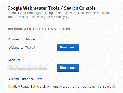 disconnect webmaster tools