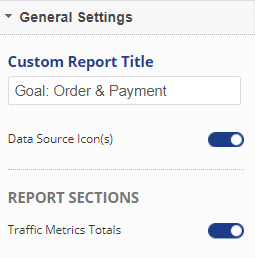 Report Title and traffic metric totals