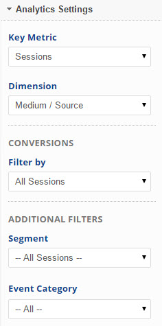 select Analytics filters