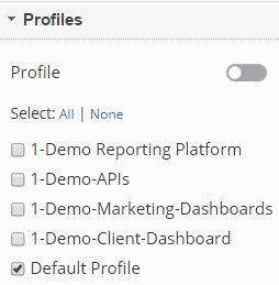 Link Dashboard Profiles
