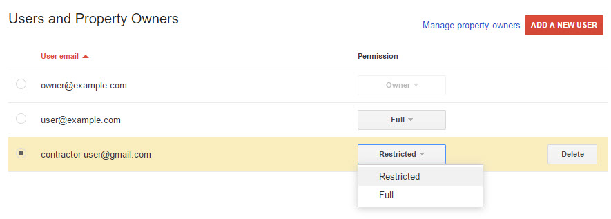 verify search console user permissions