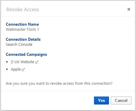 revoke Webmaster Tools access